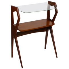 Italian Midcentury Mahogany Console Table in the Style of Ico Parisi