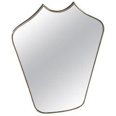 Italian Midcentury Mirror in Brass