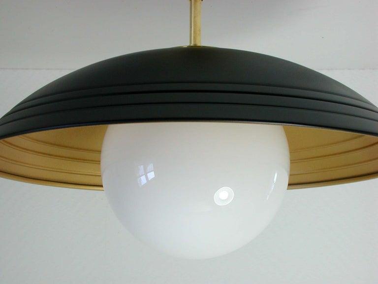 Mid-Century Modern Italian Midcentury Moon Orbit Flush Mount Ceiling Light, 1960s For Sale