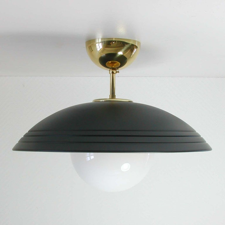 Italian Midcentury Moon Orbit Flush Mount Ceiling Light, 1960s In Good Condition For Sale In Nümbrecht, NRW