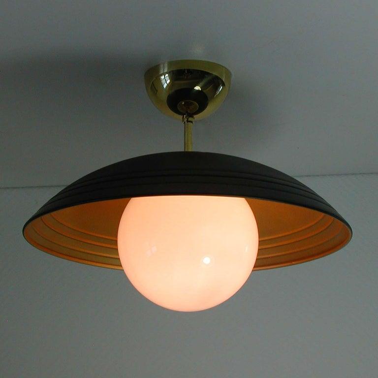 Mid-20th Century Italian Midcentury Moon Orbit Flush Mount Ceiling Light, 1960s For Sale