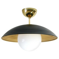 Italian Midcentury Moon Orbit Flush Mount Ceiling Light, 1960s