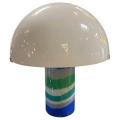 Italian Midcentury Murano Mushroom Table Lamp by AV Mazzega