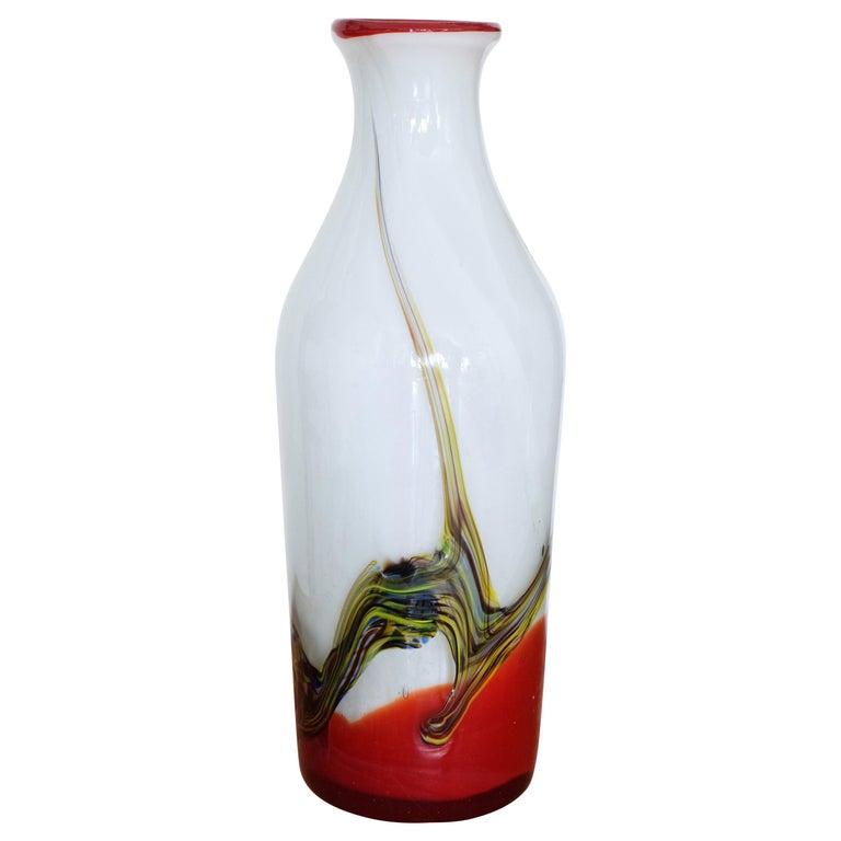 Italian Midcentury Murano Vase, 1970s For Sale