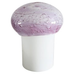 Italian Midcentury Mushroom Bubble Glass Lamp with Lilac Glass by Mazzega, 1980