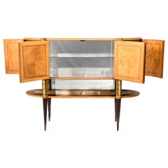 Italian Midcentury Oval Shaped Rare Bar Cabinet or Sideboard by Pierluigi Colli