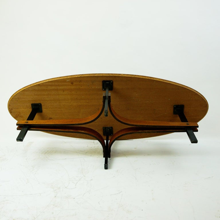 Italian Midcentury oval Teak Coffee or Cocktail Table For ...