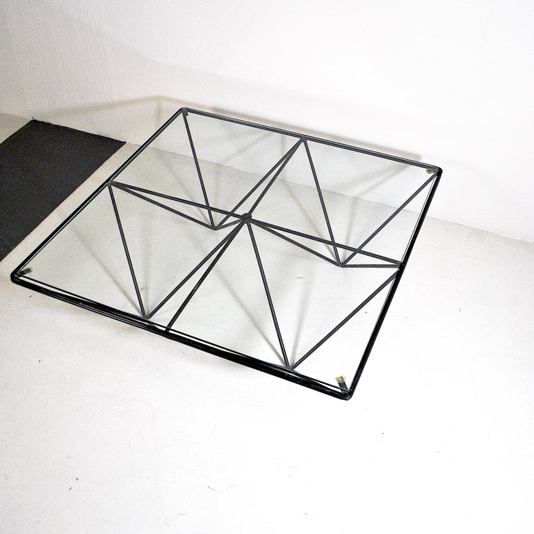 Glass Italian Midcentury Paolo Piva Coffee Table Model Alanda For Sale