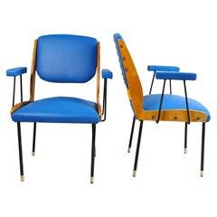 Italian Midcentury Pari of Chairs