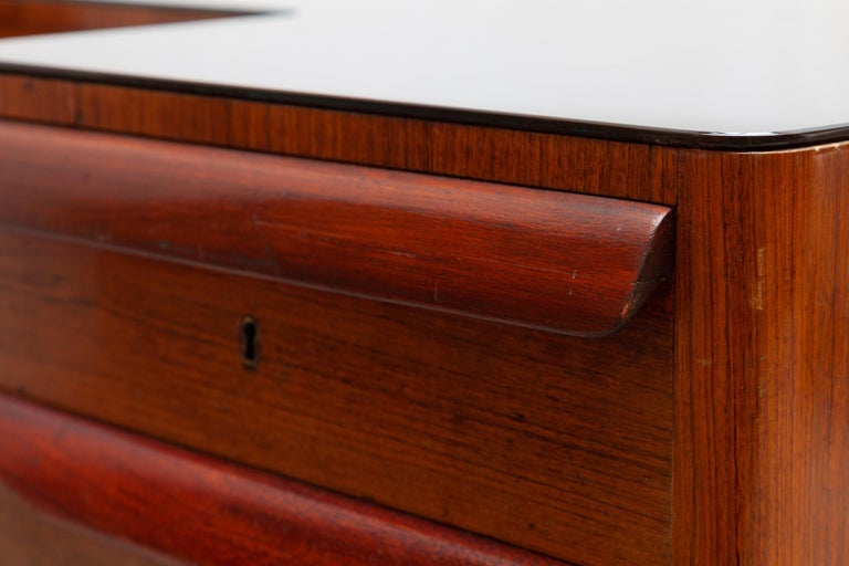 Italian Midcentury Presidential Desk by Vittorio Dassi, 1950s For Sale 4