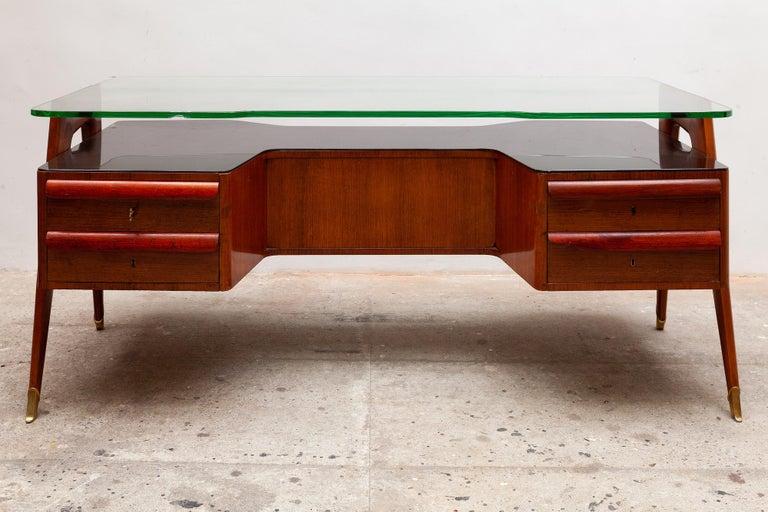 Mid-Century Modern Italian Midcentury Presidential Desk by Vittorio Dassi, 1950s For Sale