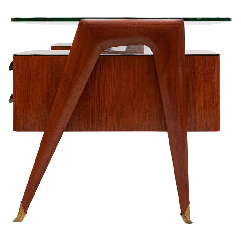 Italian Midcentury Presidential Desk by Vittorio Dassi, 1950s For Sale