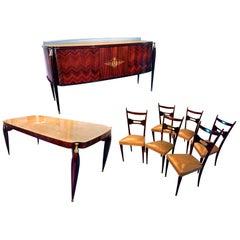 Italian Midcentury Dining Room Set Paolo Buffa Style, 1950s