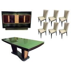 Italian Midcentury Rosewood Dining Room Suite by Vittorio Dassi, 1950s