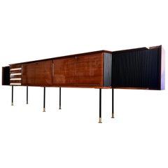 Italian Midcentury Rosewood Long Sideboard by Vittorio Dassi, 1950s