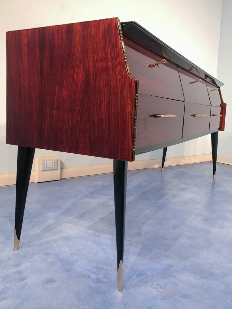 Italian Midcentury Rosewood Sideboard or Chest of Drawers, 1960s For Sale 7
