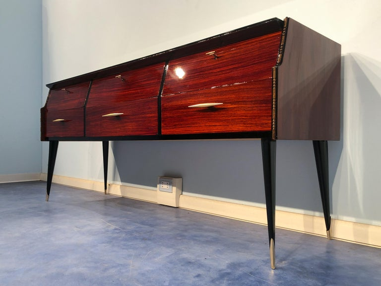 Mid-Century Modern Italian Midcentury Rosewood Sideboard or Chest of Drawers, 1960s For Sale