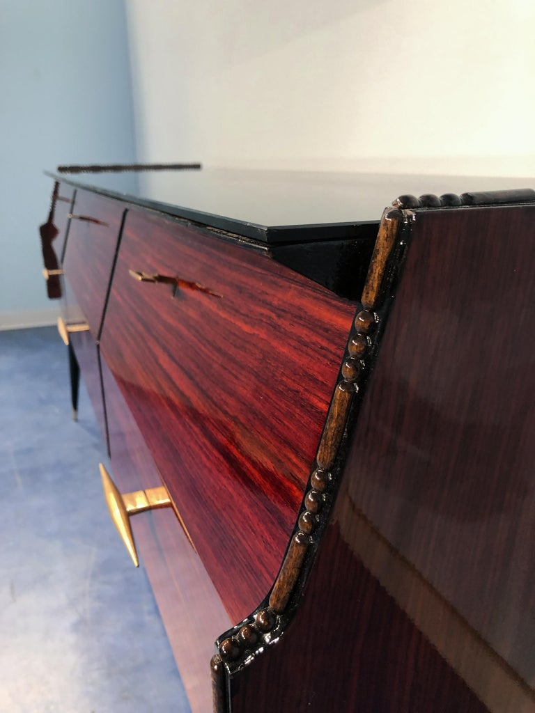 Italian Midcentury Rosewood Sideboard or Chest of Drawers, 1960s For Sale 3
