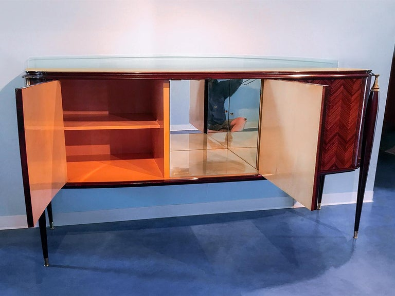 Italian Midcentury Rosewood Sideboard Paolo Buffa Style, 1950s For Sale 5