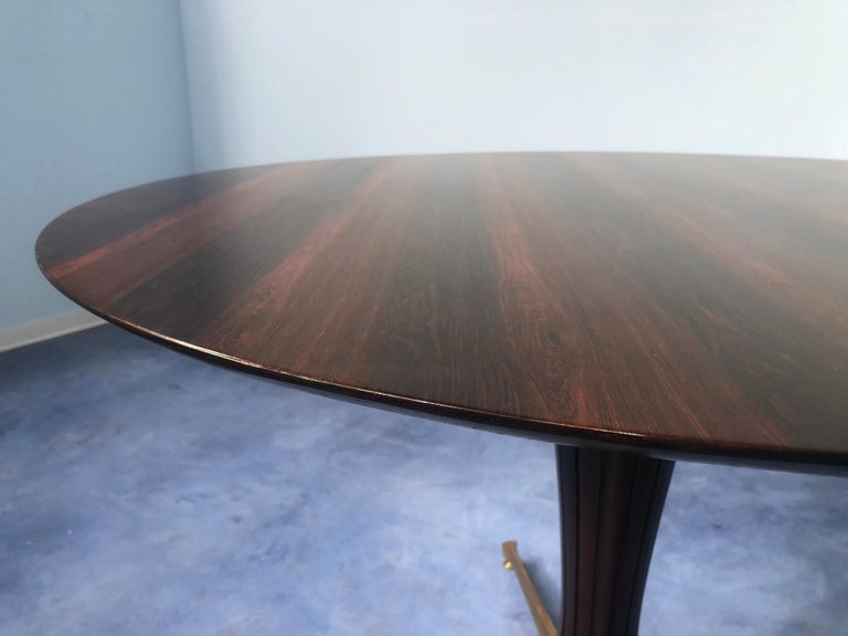 Italian Midcentury Rosewood Table Attributed to Paolo Buffa, 1950s For Sale 6