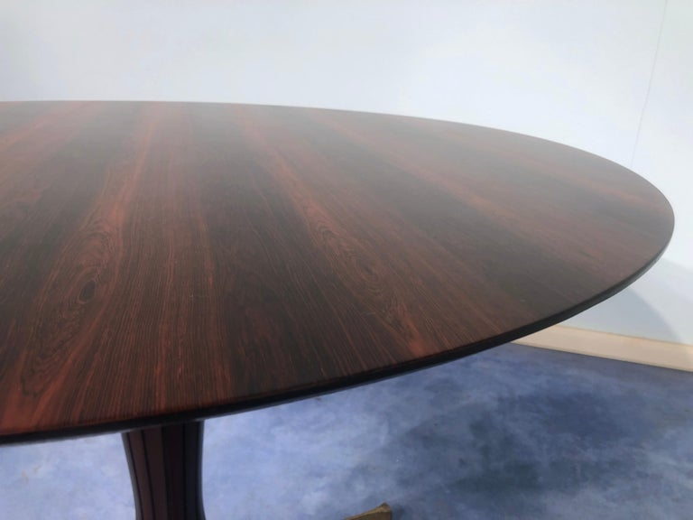 Italian Midcentury Rosewood Table Attributed to Paolo Buffa, 1950s For Sale 7