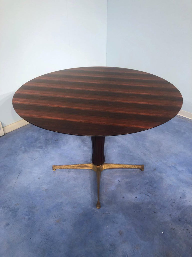 Italian Midcentury Rosewood Table Attributed to Paolo Buffa, 1950s For Sale 8