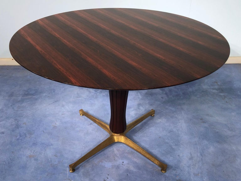 Mid-Century Modern Italian Midcentury Rosewood Table Attributed to Paolo Buffa, 1950s For Sale