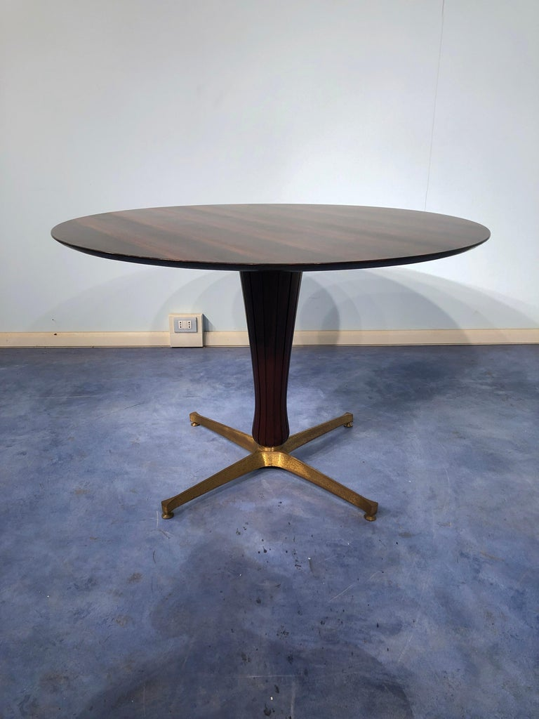 Italian Midcentury Rosewood Table Attributed to Paolo Buffa, 1950s In Good Condition For Sale In Traversetolo, IT