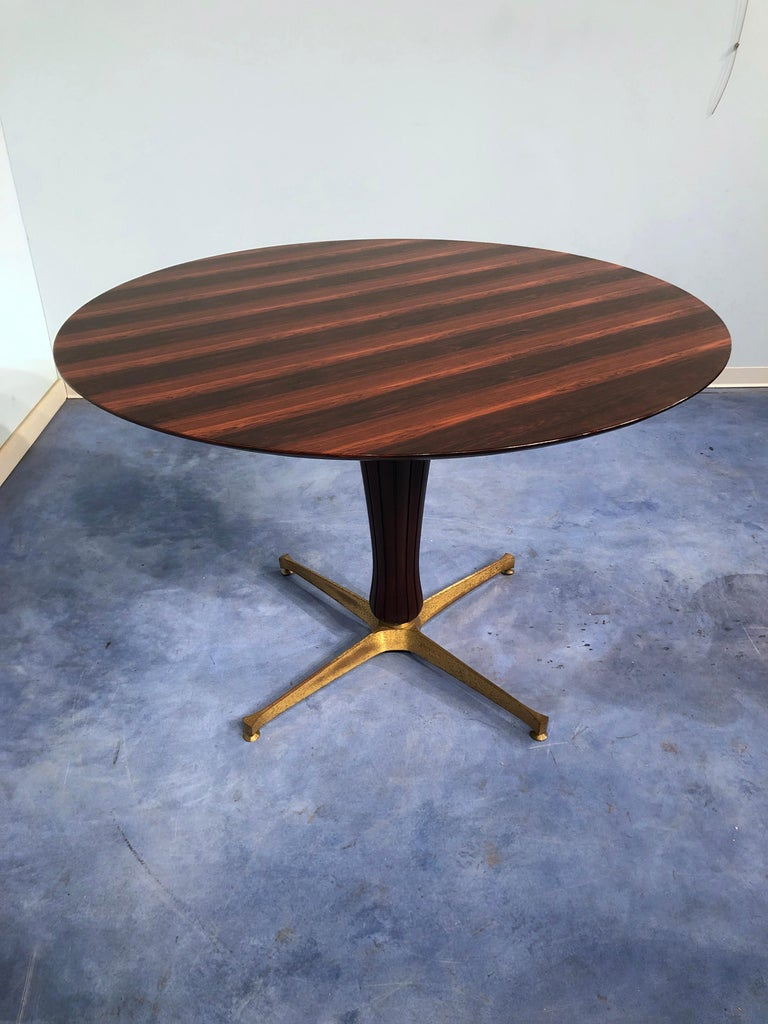 Mid-20th Century Italian Midcentury Rosewood Table Attributed to Paolo Buffa, 1950s For Sale