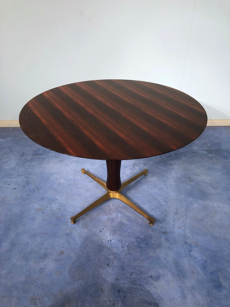 Italian Midcentury Rosewood Table Attributed to Paolo Buffa, 1950s For Sale 1