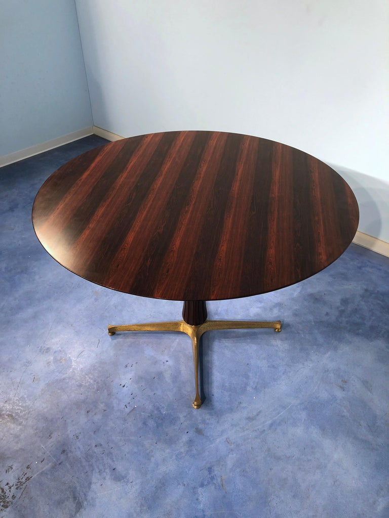 Italian Midcentury Rosewood Table Attributed to Paolo Buffa, 1950s For Sale 2