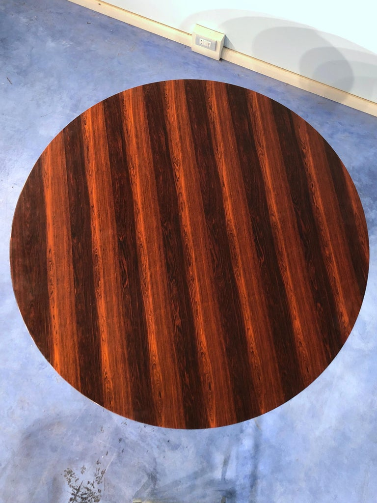 Italian Midcentury Rosewood Table Attributed to Paolo Buffa, 1950s For Sale 3