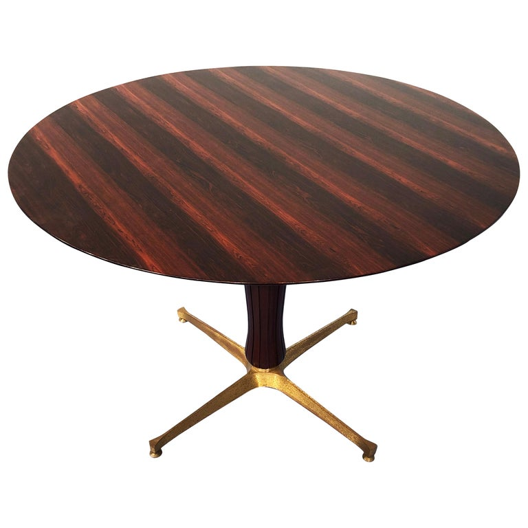Italian Midcentury Rosewood Table Attributed to Paolo Buffa, 1950s For Sale