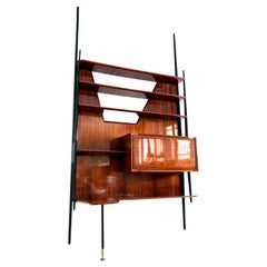 Italian Midcentury Rosewood Wall Unit or Bookcase by Vittorio Dassi, 1950s