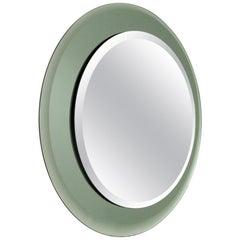 Italian Midcentury Round Mirror, 1970s