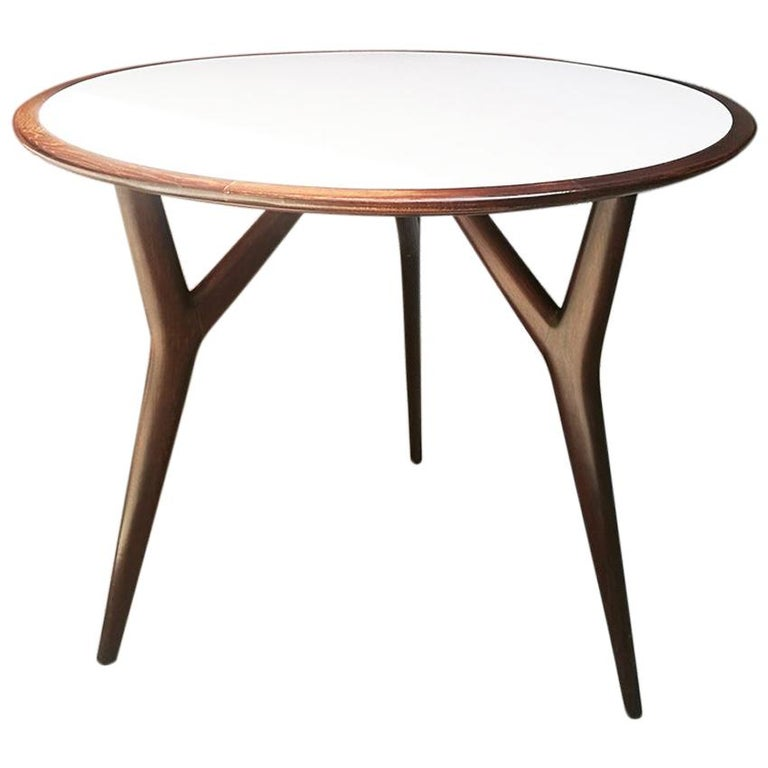 Italian Midcentury Round Solid Wood Table By Ico Parisi 1950s At 1stdibs