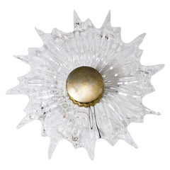 Italian Midcentury Sconce in Worked Glass
