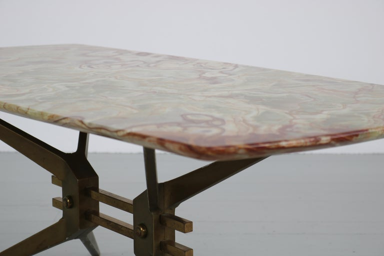 Italian Midcentury Side Table with Onyx Top, 1960 For Sale 6