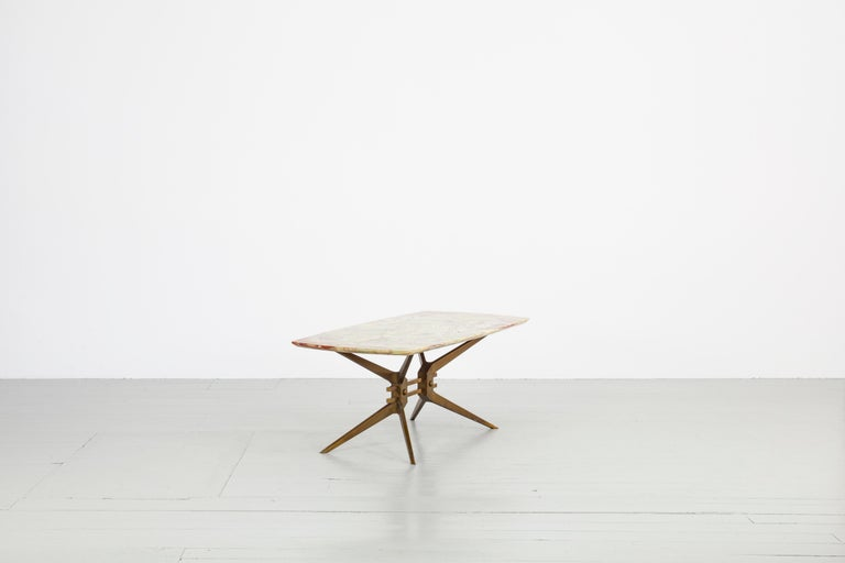 Mid-Century Modern Italian Midcentury Side Table with Onyx Top, 1960 For Sale