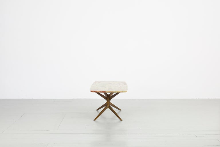 Italian Midcentury Side Table with Onyx Top, 1960 In Good Condition For Sale In Wolfurt, AT
