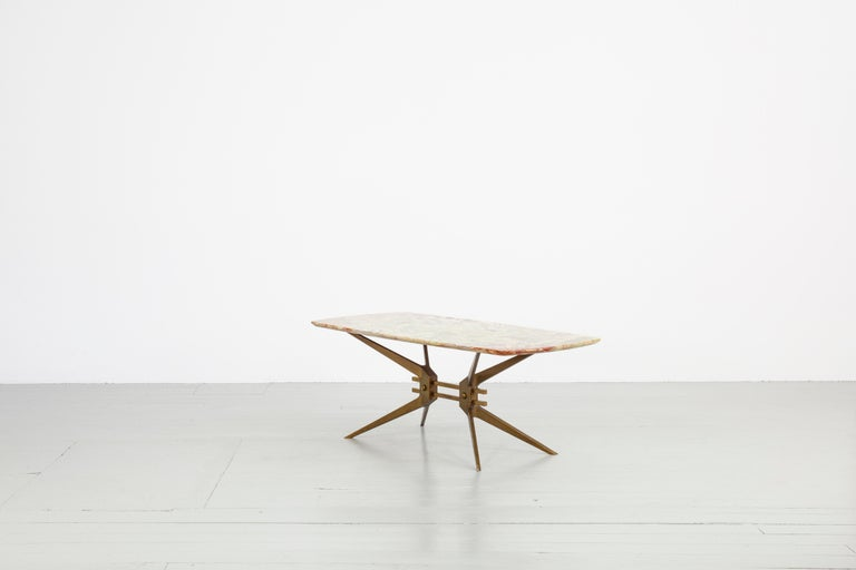 Mid-20th Century Italian Midcentury Side Table with Onyx Top, 1960 For Sale