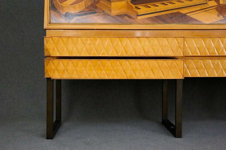 Italian Midcentury Sideboard by Antonio Cassi Ramelli and L. Anzani Signed 1950s For Sale 6