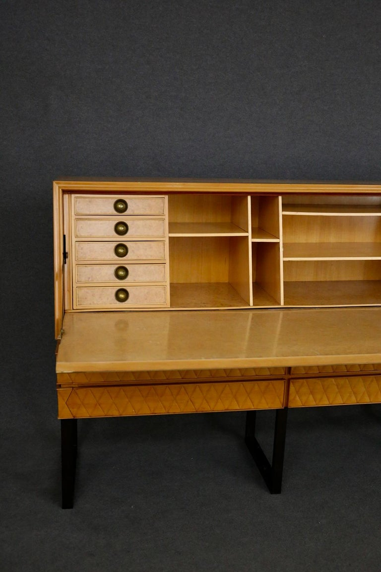 Italian Midcentury Sideboard by Antonio Cassi Ramelli and L. Anzani Signed 1950s For Sale 7
