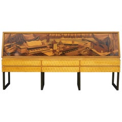 Italian Midcentury Sideboard by Antonio Cassi Ramelli and L. Anzani Signed 1950s