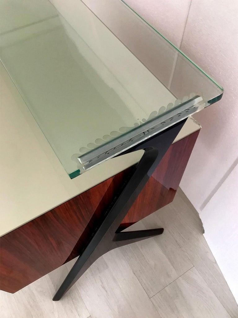 Italian Midcentury Sideboard or Vanity Dresser by Vittorio & Plinio Dassi, 1950s For Sale 4