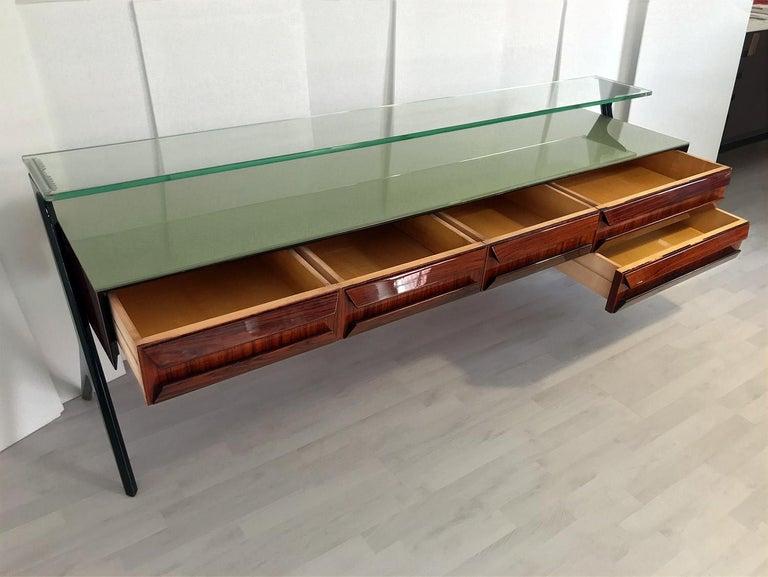 Italian Midcentury Sideboard or Vanity Dresser by Vittorio & Plinio Dassi, 1950s For Sale 7