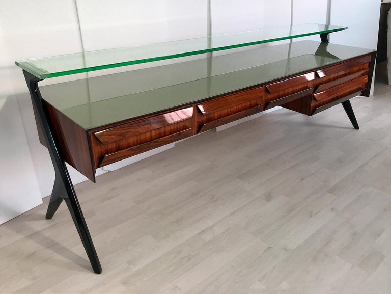 Italian Midcentury Sideboard or Vanity Dresser by Vittorio & Plinio Dassi, 1950s For Sale 9