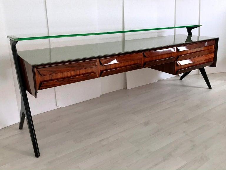 Italian Midcentury Sideboard or Vanity Dresser by Vittorio & Plinio Dassi, 1950s For Sale 10