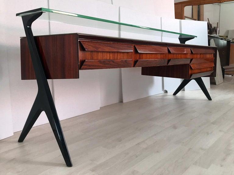 Italian Midcentury Sideboard or Vanity Dresser by Vittorio & Plinio Dassi, 1950s For Sale 11
