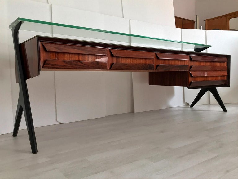 Italian Midcentury Sideboard or Vanity Dresser by Vittorio & Plinio Dassi, 1950s For Sale 13